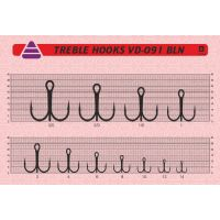 """Крючки """"Тройник VD-091 (BN) """"Treble Hooks № 2"""", 25 шт/уп"""